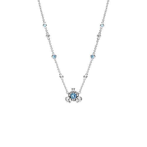 Pandora Disney - Collar de plata de ley con diseño de carruaje de calabaza (45 cm)