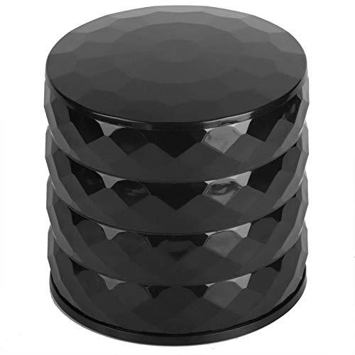 Omabeta Joyero de diseño de Cuatro Niveles Elegante Multifuncional para el hogar a estrenar(Black)