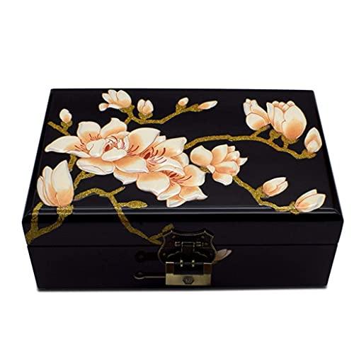 erddcbb Joyero Lacado Pintado a Mano con Ilustraciones de Flores, Muebles y Regalos orientales Chinos
