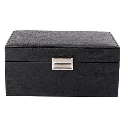 XZJJZ Joyería de Caja - Joyas de la Sección Joyero Organizador - Diversified Compartimentos, un Gran Espejo, joyería Elegante