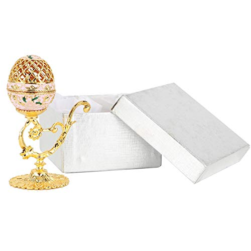 Denkerm Joyero, Caja de Huevos de Pascua esmaltada Duradera, Elegante para Regalos, decoración de Escritorio, niñas, Mujeres Amigas
