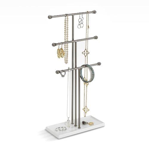 Umbra 299330-491 Trigem - Colgador de joyas Nickel, 48 x 23 x 10 cm