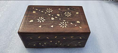 Joyero de madera con amor para mejorar la belleza de tu hogar, tamaño: 6 pulgadas