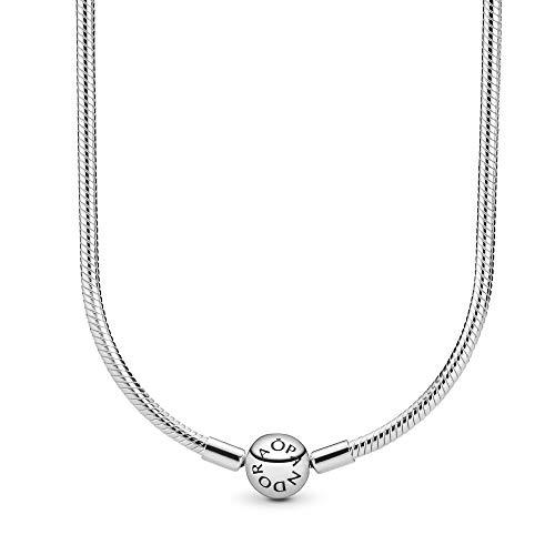 PANDORA Collar Corto Mujer Plata - 590742HV45