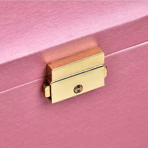 Joyero multicapa, caja organizadora de joyas portátil, para almacenamiento