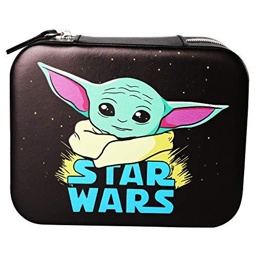 Disney Star Wars Mandalorian The Child Organizador de joyas de piel sintética para viaje