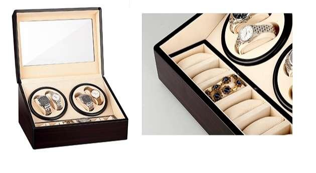 caja para relojes que gira